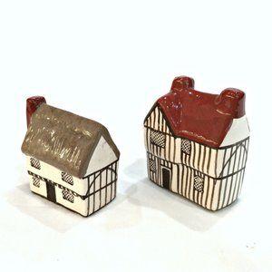 2 Vintage MUDLEN END Suffolk Cottages Figurines